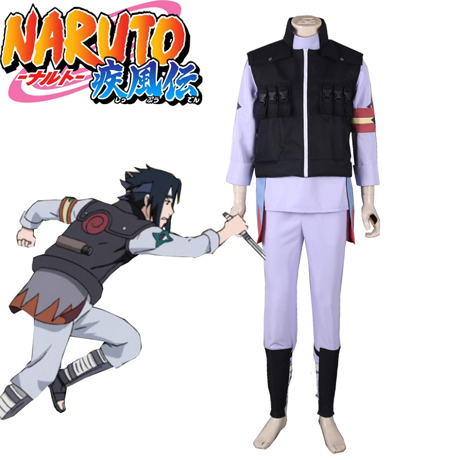High-Q Unisex Anime Cos NARUTO Uchiha Sasuke Cosplay Costume Sets