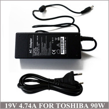 19V 4.74A 90W Laptop AC Adapter Charger Power Cord Notebook Toshiba N17908 U405D PA3165U-1ACA
