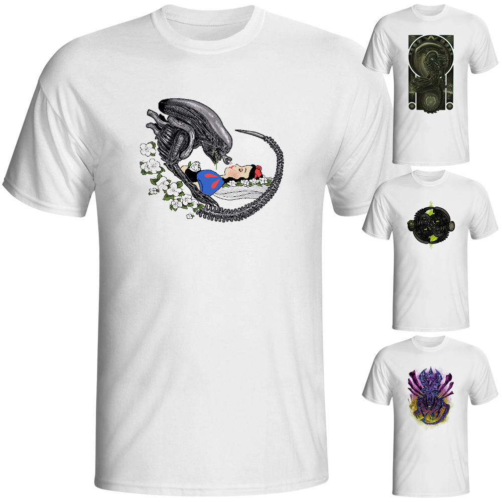 Alien Kiss Snow White T Shirt Covenant Prometheus Parody Funny Geek Design Creative T-shirt Fashion Novelty Style Cool Tshirt