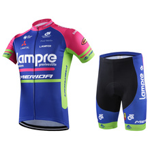 2016 New Arrival  Blue Wave shirts + pants coveralls summer short-sleeved jersey bike wear bicycle / motorcycle / riding