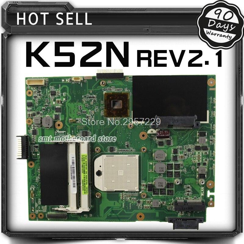 For Asus Motherboard A52N X52N K52N REV2.1 Mainboard Motherboard S-6