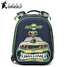 GRIZZLY Kids Bags Children Schoolbags for Boys Orthopedic&Waterproof Zipper Backpacks Primary School Bags for Grade 1-4(China)