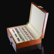 Luxury Cufflinks Gift Box High Quality Painted Wooden Box Authentic Size 240*180*55mm Capacity Jewelry Storage Box Set(China)