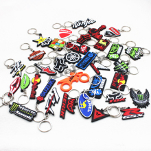 ACZ Universal Motorcycle Creative Personality Key Rings Keyring Keychain Motor Bike Soft Rubber Key Ring Muti Logo Key Chain(China)