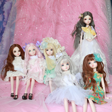 Free shipping many style cheap blyth bjd doll cosmetic diy 29CM high gift doll with clothes and shoes(China)