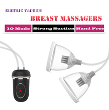 Buy Breast Massager Enlargement Pump Electric Vacuum Suction Cup Female Masturbation Breast Enhancer Sex Toys Women LUOGE-125A