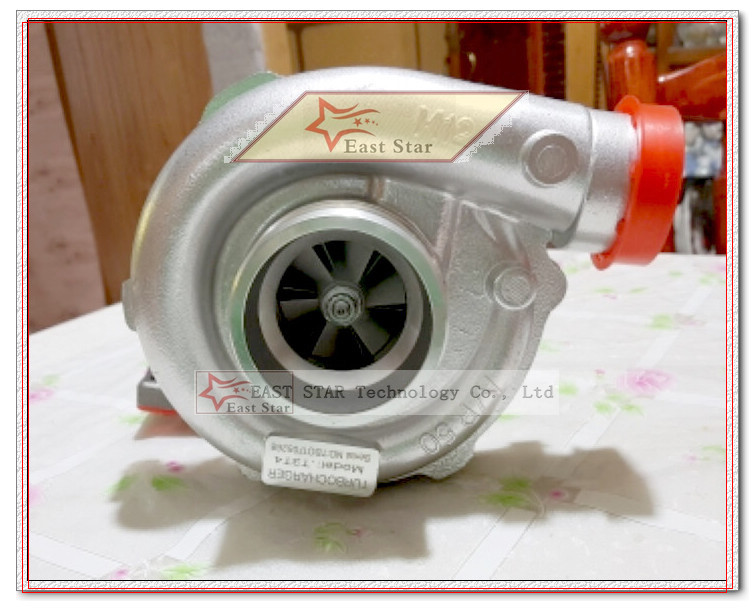 Oil cooled Turbo T3T4 T3 T4 T3T4 TO4E Turbine AR .63 comp AR .50 Turbocharger For Vehicle tuning Universal 155-170kw 5 bolts (1)
