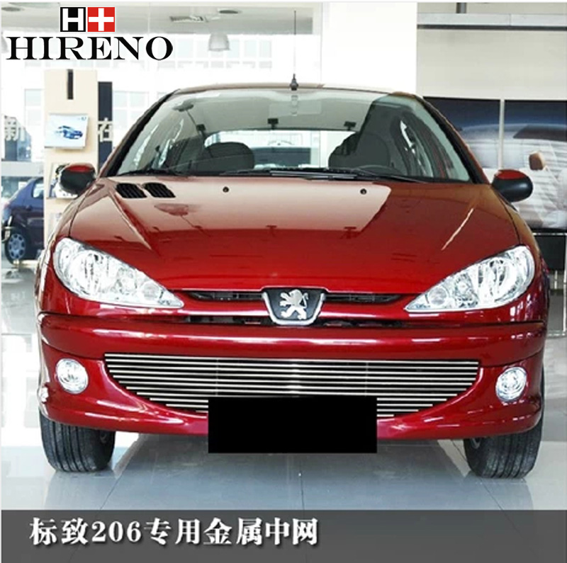 Racing Grills version Aluminum alloy car styling Refit grille air intake grid radiator car grill For Peugeot 206<br><br>Aliexpress
