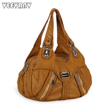 Fashion Brands High Quality Leather Women Handbag 2017 Ladies Tote Handbags Shoulder Bag Female Vintage Messenger Bags Crossbody(China)