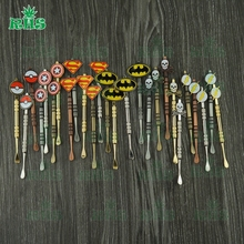 Wholesale 50pcs Unique Design Dab Stick Metal Stainless Steel Dab Rig Tool for Wax Dab Rig Glass Free Shipping