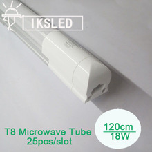 Microwave Sensor T8 tube 1200mm SMD2835 96pcs T8 integrated tube led for car park garage 25pcs/lot cheap price free shipping