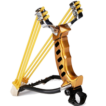 2 Rubber Bands Folding Wrist Slingshot Catapult Outdoor Games Powerful Hunting Bow & Arrow Sling ShotTools Hunting Sling shot