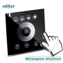 DIY home lighting single color LED Touch switch Panel Controller led dimmer for DC12V LED strip lights(China)