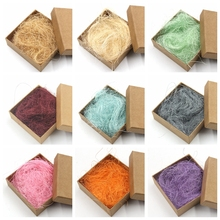 20g Natural Hemp Shreds Gift Wrap Box Filler Packing Material Confetti Straw DIY Gifts Box Supplies Wedding Birthday Party Decor