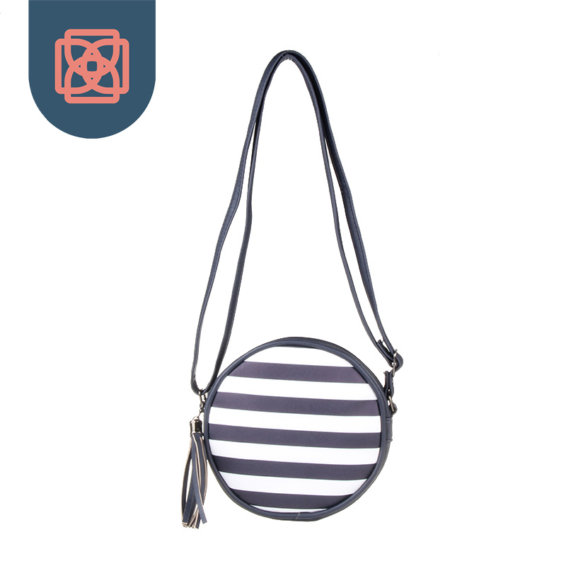 Wome Casual Striped Round Small Purse Clutch Cross Body Bag<br><br>Aliexpress