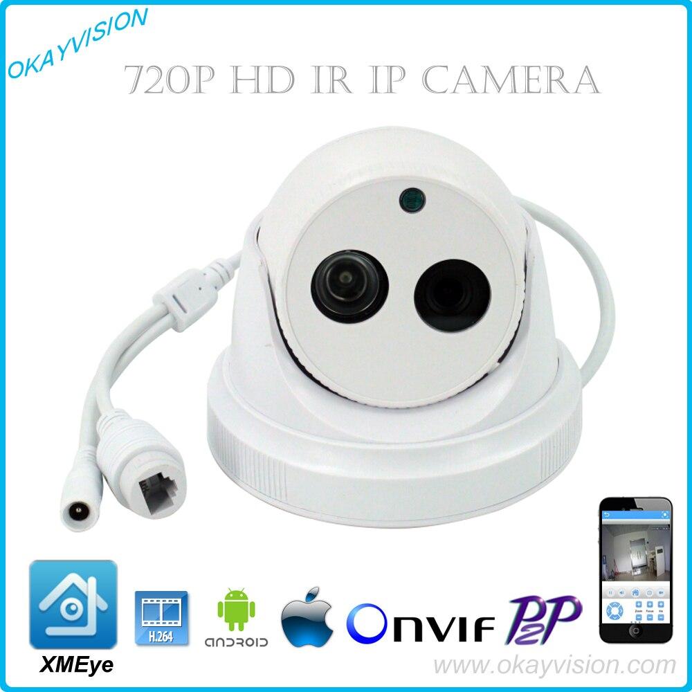ONVIF 1MP CMOS IR CUT  H.264 1MP HD 720P HD IP P2P dome cameras XMEye APP for Smart Phone<br><br>Aliexpress