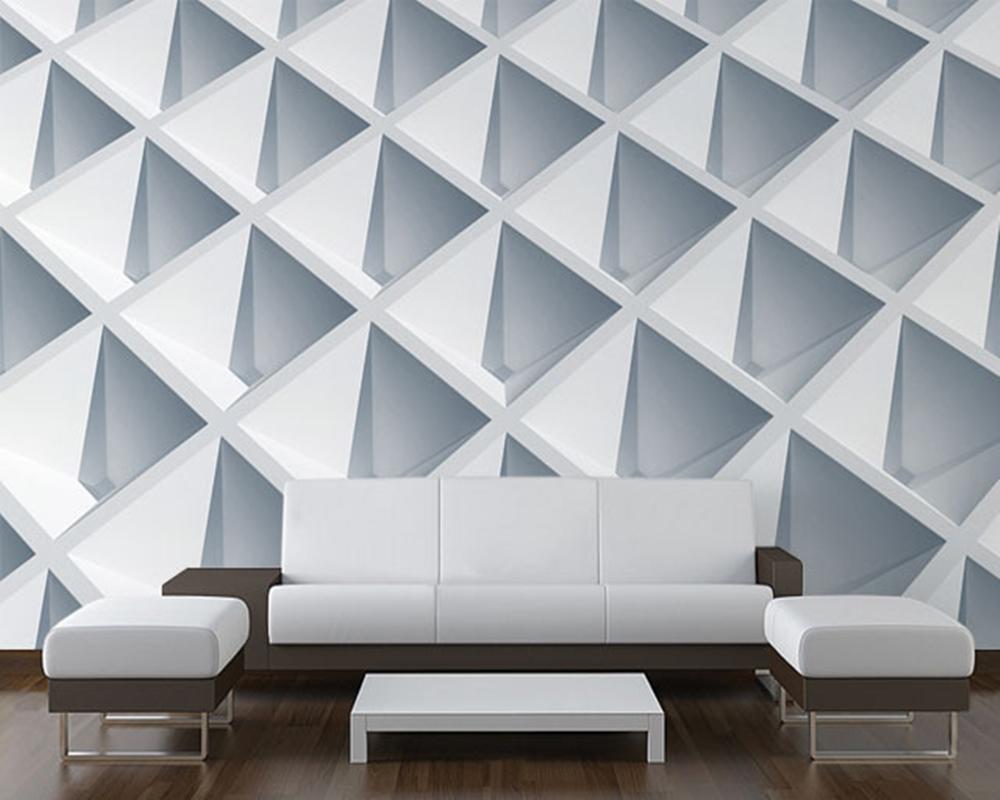 3D modern wallpaper,Abstract Architecture,geometric art murals for living rooms childrens rooms sofas background walls PVC<br>