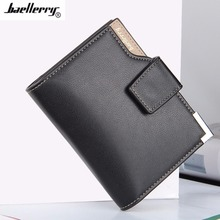 Baellerry Men's Vertical Casual Buckle Multifunction Leather Three Folding Wallet Worldwide sale carteira masculina