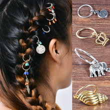 LNRRABC 1 Set New Fashion Women Hairpin Hair Clip Short Braid Dreadlocks Dreadlock Circle Hoop Headwear Women Hair Accessories(China)