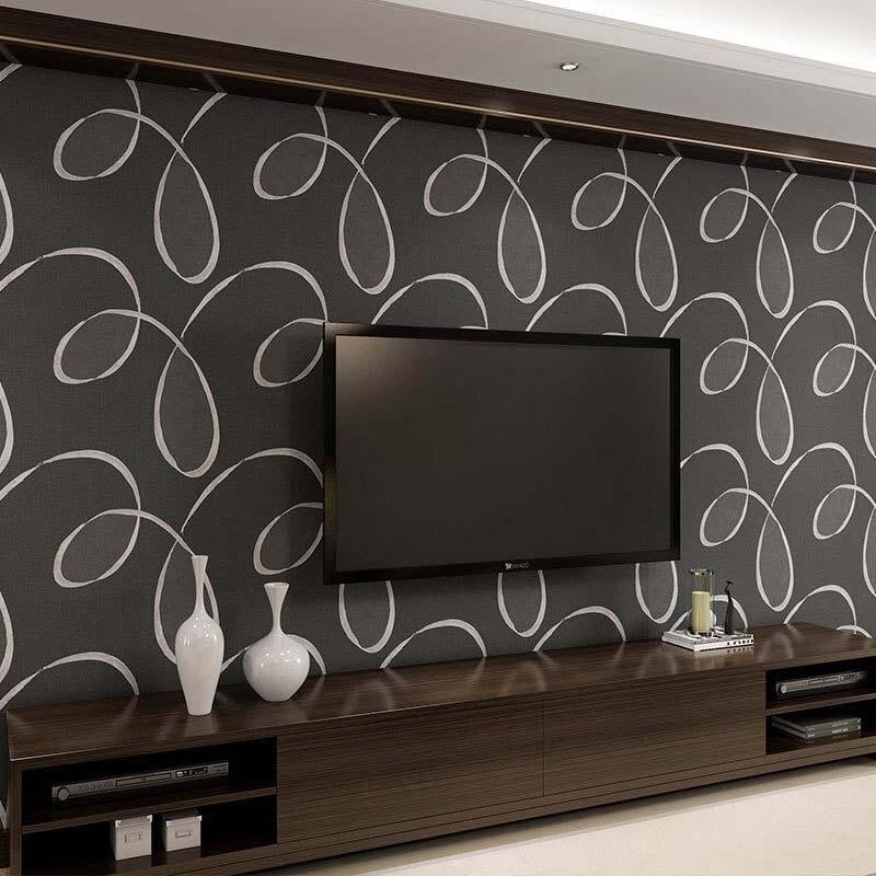 3D Non Woven Wallpaper Rolls Europe Simple Line Modern Living Room Wall Art Decals Boys Bedroom Wallpaper Dining Room Decor Art<br>