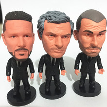 Soccerwe 2017 Coach Series Diego Simone Mourinho Guardiola Doll Black Suit