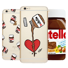 Cute Tumblr Nutella Design Transparent Silicone Cases Cover Coque For iPhone 7 4 4S 5 5C 5S SE 6 6S 7 Plus Luxury Phone Case