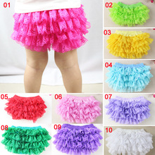 Many Colors Cotton Panties Infant Toddle Diaper Cover Lace Baby Ruffle Bloomers(China)