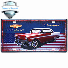 "Vintage Car Plate "" Chevrolet 1956"" Wall Art Craft Vintage  Metal Signs for Bar Decor Beer Wall Metal Beer Sign"