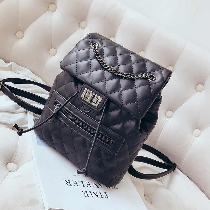 66449c4dbbb1 FREE SHIPPING quilted backpack diamond lattice shoulder bag knapsack  packsack rucksack women fashion purse