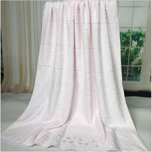 Romantic Lace  Elegant  Plain  100%Cotton  Embroidery Beach towels  Dyed  Blankets 152cm*94cm Foreign Trade
