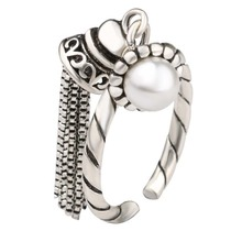 Calia 100%925 Sterling Silver White Natural Pearl Vintage Jewelry Fringed Opening Women Luxury festival Gift Ring