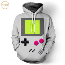 ISTider New 2017 Spring Game Boy Hoodie 3D Printing Sweatshirts with Pocket Drawstring Winter Coat Men Women Tops Brand Hooded