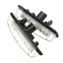 2X White Car LED License Plate Lights 12V Number Plate Lamp No Error fit For Lexus IS200 IS300 GS300(China)