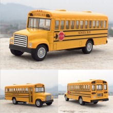 New 1:32 American School Bus Diecast Metal Car Model Toy For Kids Collection Gift Toys Diecasts & Toy Vehicles