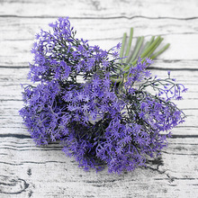 1 Bouquet artificial purple star grass plant simulation fake flower home table wedding decoration(China)