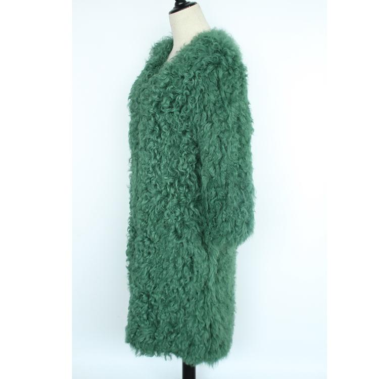 women natural lamb sheep fur coat (7)