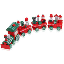 Hot Cute Charming 4 Piece Wooden Christmas Santa Tree Train Gifts