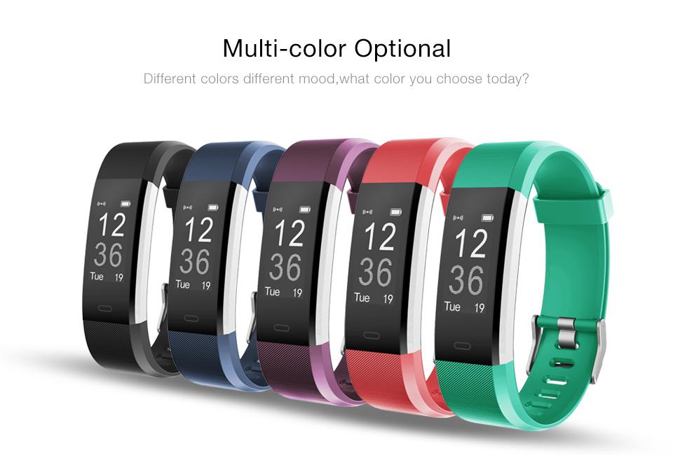 Hot Smart Wristband ID115 Plus Smart Band pedometer Fitness Bracelet Activity Tracker Mp3 Smart Bracelet Pk fitbit PK mi band 2 2