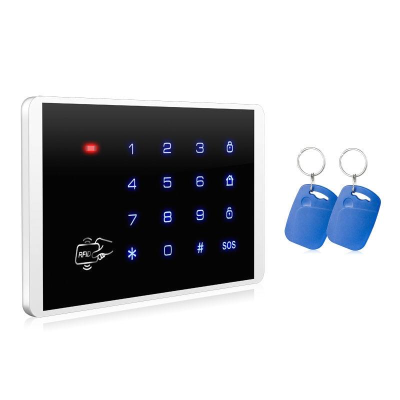 KERUI New K16 RFID Touch Keypad For Wireless PSTN GSM Alarm Systems Burglar Access Control System Wireless Password Keypad<br>