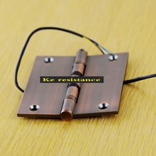 Ke resistant line into lipstick bronze hinge electronic password lock with special wire wire line of door hinge(China)