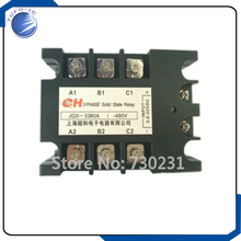 Free Shipping 80A DC to AC 3.5-32VDC/480VAC 3 Phase SSR Solid State Relay + Indicator Light