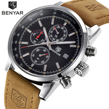 Buy BENYAR Fashion Chronograph Sport Mens Watches Top Brand Luxury Quartz Watch Reloj Hombre 2017 Clock Male hour relogio Masculino for $22.99 in AliExpress store