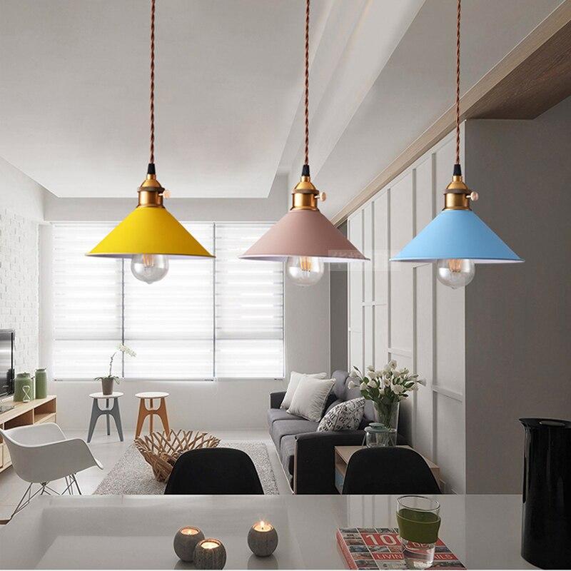 Modern Art Pendant Lamps Led painted Classic Pendant Dining Room Light Modern Pendant Bar Beat Light Chandelier Lights LED bulb<br>
