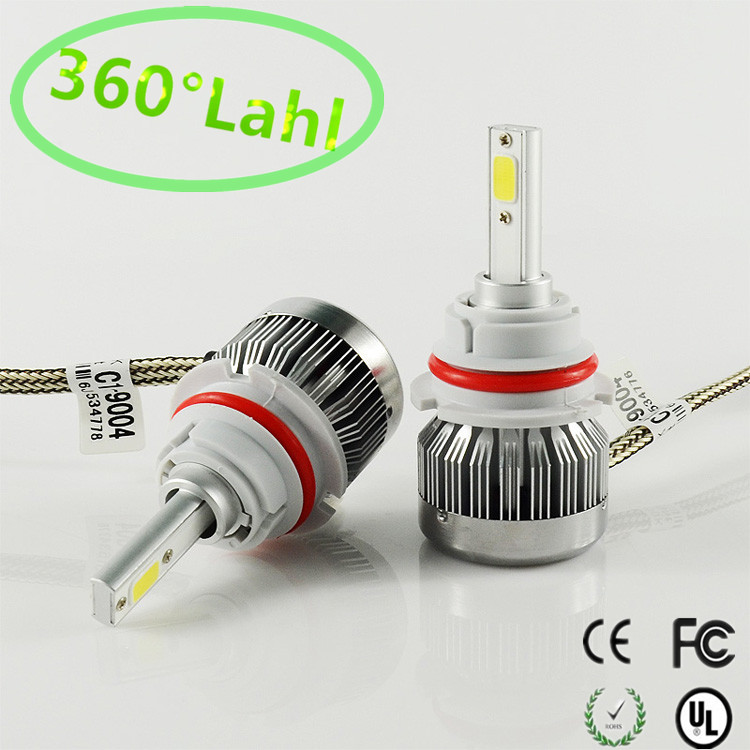 2017 9004 C1 CAR LED Headlights COB 60W 6000LM/SET AUTO MOTOCYCLE HEADLIGHT HEADLAMP KIT Front Bulb Automobiles Headlamp 6000K<br><br>Aliexpress