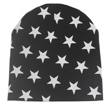 2017 Toddler Kid Girls Boys Baby Winter Warm Crochet Knit Hat Beanies Skullies Stars printed Baby Hat(China)