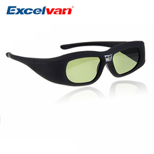 Excelvan Active DLP Link 3D Glasses Compatible With Optama/Acer/BenQ/ViewSonic/Sharp/Dell DLP Link Projectors DLP 3D Ready(China)