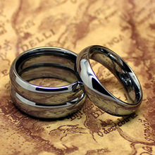 Top Quality! Tungsten Silver Color 6mm Pure Tungsten Carbide Ring Fashion Jewelry The One Ring Wedding Rings(China)