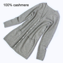Hand Knitted Cardigan Coats sweaters 2015 women fashion cashmere sweater pure cashmere coat Free shipping Wholesale price S91(China)