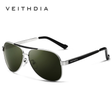 2017 VEITHDIA Brand New Polarizerd Sunglasses Men Glass Mirror Green Lense Vintage Sun Glasses Eyewear Accessories Oculos 3152