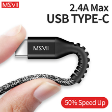 Msvii USB Type C charger Cable Samsung Galaxy S9 S8 Sync Date Type-c Fast Charging Cables Huawei Oneplus Xiaomi Redmi